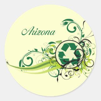 Recycle Arizona Classic Round Sticker