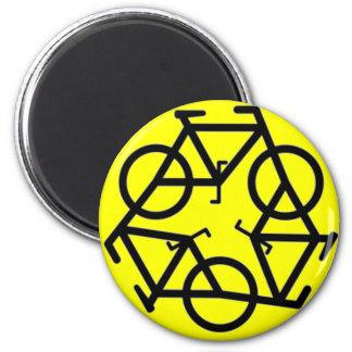 Recycle Bicycle Logo Symbol 6 Cm Round Magnet