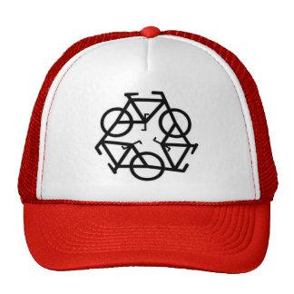 Recycle Bicycle Logo Symbol Mesh Hats