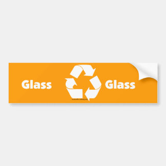 Recycle bin labels for glass with recycle symbol.
