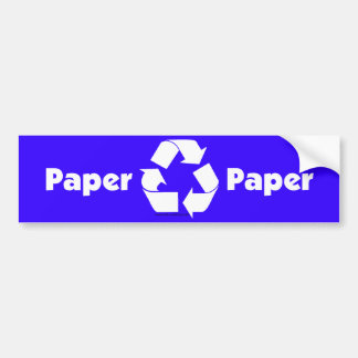 Recycle bin labels for paper with recycle symbol. bumper sticker
