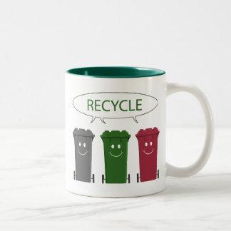 Recycle Bins Two-Tone Coffee Mug
