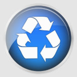 Recycle Blue Icon (pack of 6/20) Round Sticker