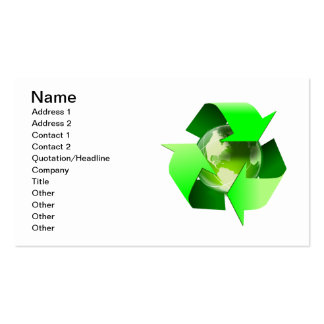 Recycle Double-Sided Standard Business Cards (Pack Of 100)