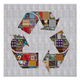 RECYCLE Champion Environment Global Warming NVN532 Poster