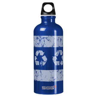 Recycle Chicago Flag Earth Day SIGG Traveller 0.6L Water Bottle