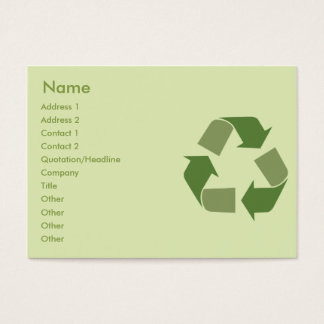 Recycle - Chubby Business Card
