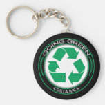 Recycle Costa Rica Basic Round Button Key Ring