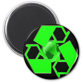 Recycle Earth 2- Save the Earth- Go Green Fridge Magnets