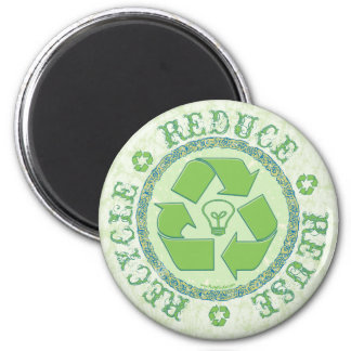 Recycle Earth Day Gear 6 Cm Round Magnet