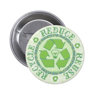 Recycle Earth Day Gear Pinback Buttons