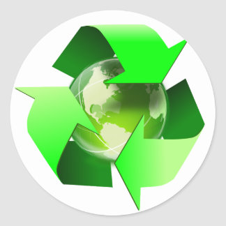 Recycle Earth Day Sticker