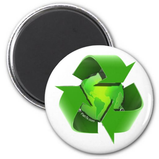Recycle Earth-Go Green-Save the Earth Magnets