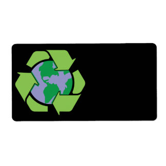 Recycle Earth Label Shipping Label