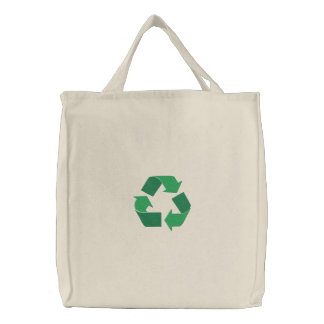 Recycle Embroidered Tote Bag