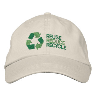 Recycle Environment Awareness Embroidered Baseball Caps