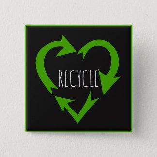 Recycle, Environmental Button