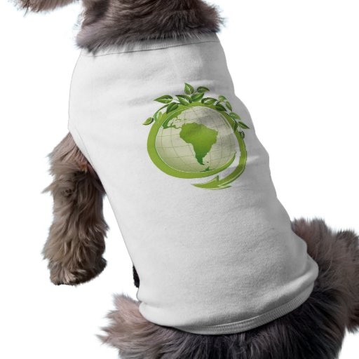 Recycle environmental concerned doggie t shirt