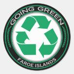 Recycle Faroe Islands Round Sticker