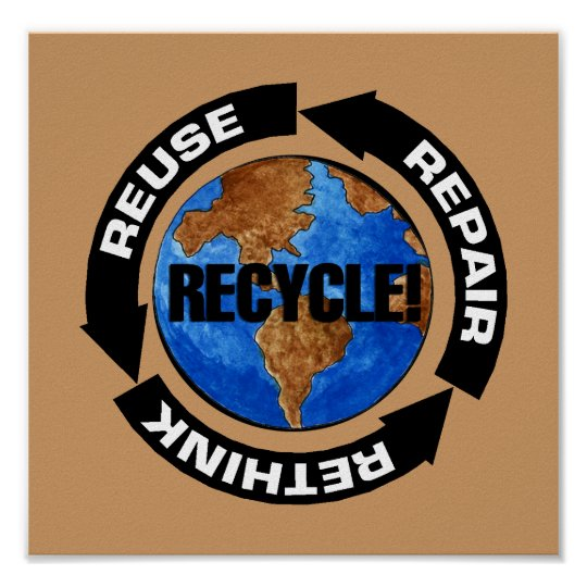 Recycle For Earth Day Poster