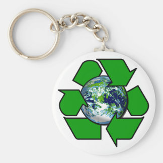 Recycle for Planet Earth Key Ring