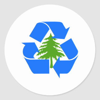 recycle for the trees sticker