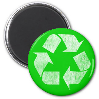 Recycle - Go Green 6 Cm Round Magnet