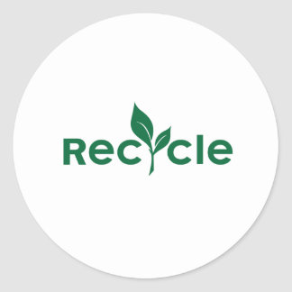 Recycle - go green small sticker