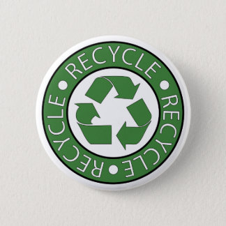 Recycle Green 6 Cm Round Badge