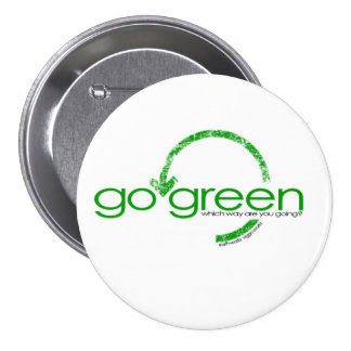 Recycle Green Arrow 3 Inch Round Button