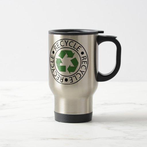 Recycle Green Center Logo Coffee Mugs