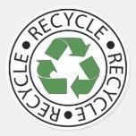 Recycle Green Centre Logo Round Sticker