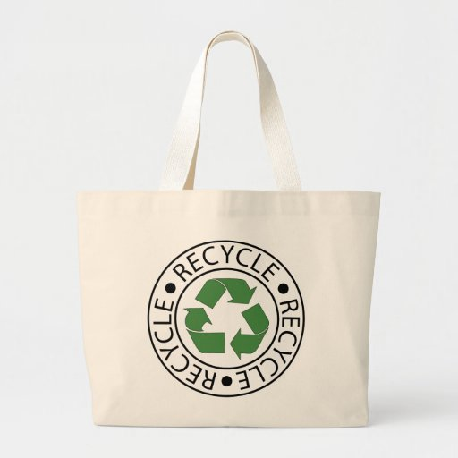 Recycle Green Ceter Logo Bags