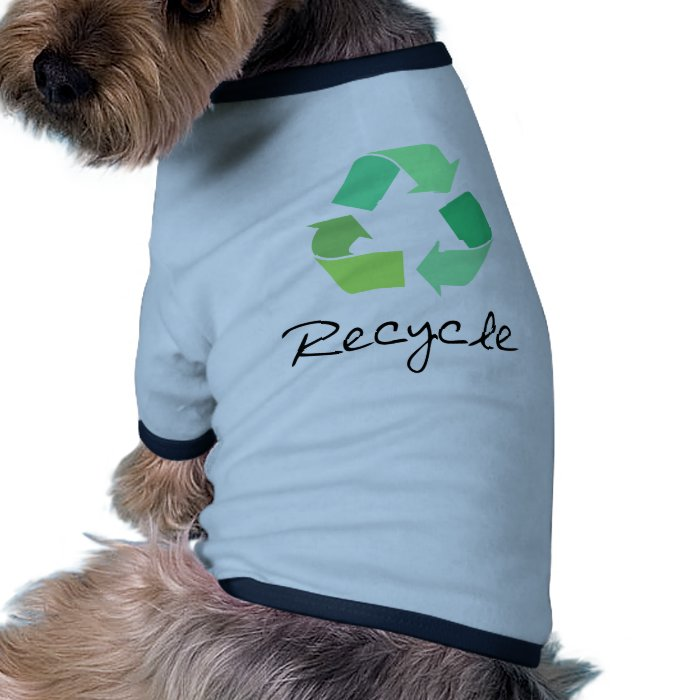 Recycle! Green designs for Ecology! Ringer Dog Shirt