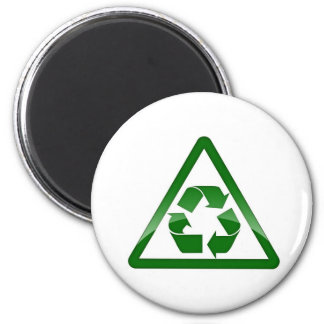 Recycle Green Eco Friendly Save Earth 6 Cm Round Magnet
