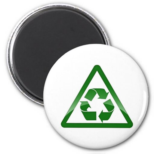 Recycle Green Eco Friendly Save Earth Fridge Magnets
