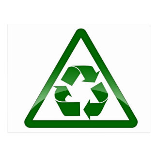 Recycle Green Eco Friendly Save Earth Postcard