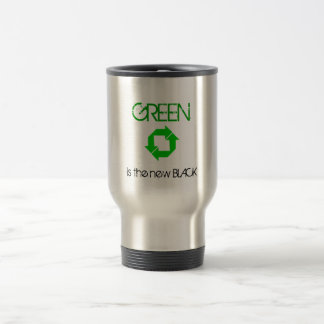 Recycle, GREEN is the new BLACK Travel Mug