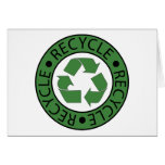 Recycle Green Logo BK Letters Greeting Card