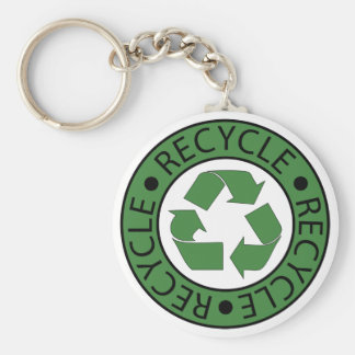Recycle Green Logo BK Letters Key Ring