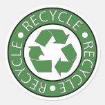 Recycle Green Round Sticker