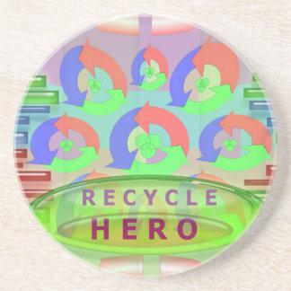 Recycle Hero - Reward Award Inspiration Drink Coaster