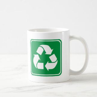 Recycle Highway Sign Coffee Mugs