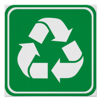 Recycle Highway Sign Poster
