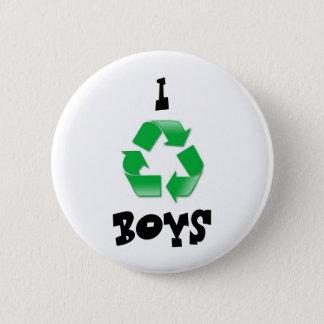 recycle, I, BOYS 6 Cm Round Badge
