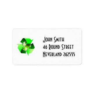 Recycle Address Label