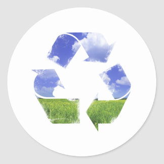Recycle Life Round Sticker