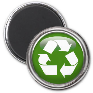 Recycle Logo 6 Cm Round Magnet