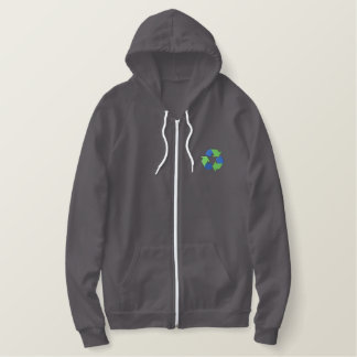 Recycle Logo Embroidered Hoodie