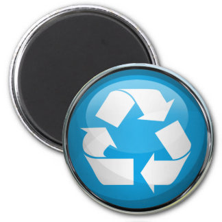 Recycle Logo in Glass & Chrome Magnet